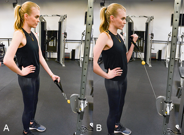 one arm cable curl low
